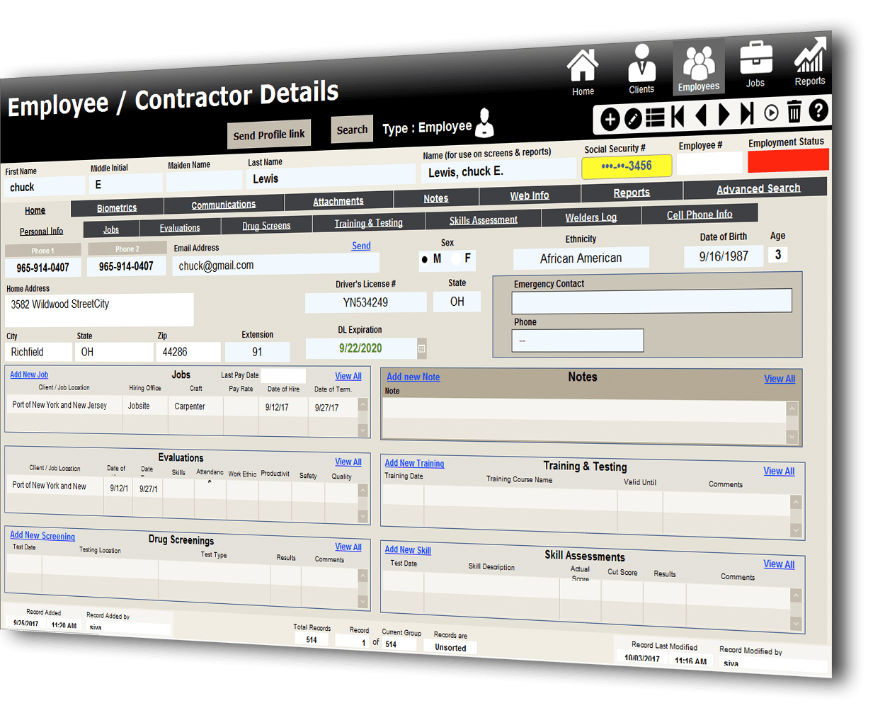 HR Management System in FileMaker Designed by FMDBSolutions