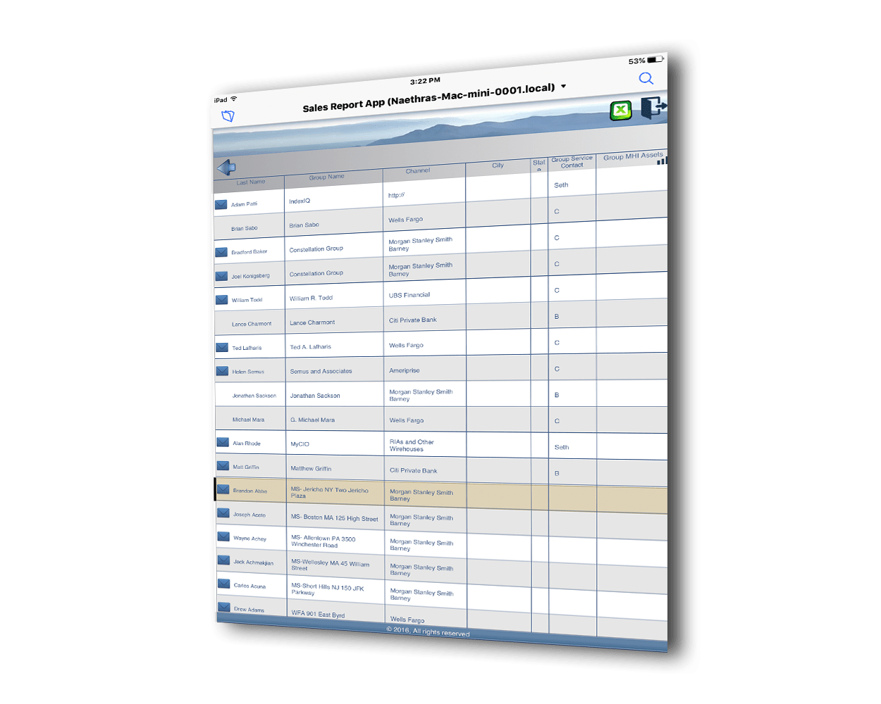 sales reporting system
