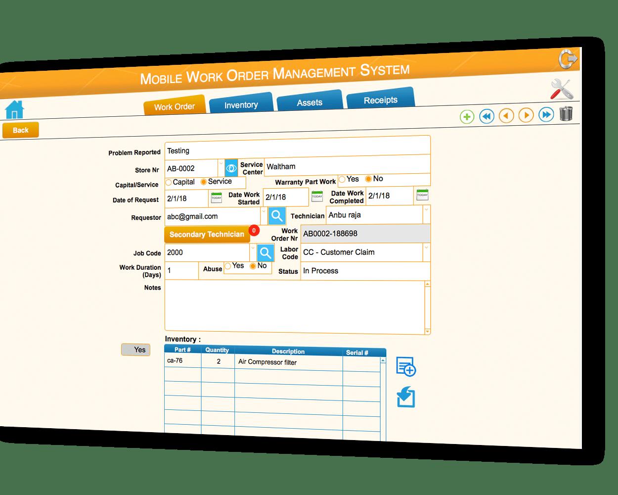 workorder management system