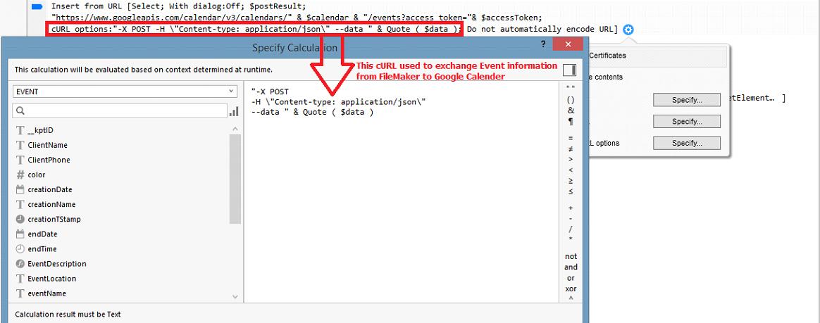 GOOGLE CALENDAR API COLORID - Create – Update an Event in